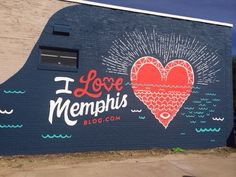 Dearest readers, followers, and fellow Memphians, here are the seven I Love Memphis murals.