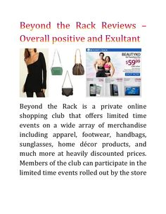 Beyond the Rack is a private online shopping club that offers limited time events on a wide array of merchandise including apparel, footwear, handbags, sunglas… Beyond The Rack, Direct Marketing, Overalls, Abs, Positivity, Assisted Living, Portal, Online Shopping, Footwear