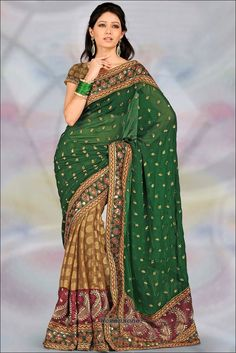 Can we please bring sari influence to mainstream fashion?  So beautiful!