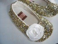 Glitter Flats in Gold