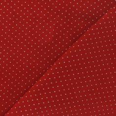 Tissu velours milleraies mini pois rouge vif x 10cm