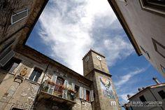 Castell'Azzara, Castello e Torre Orologio