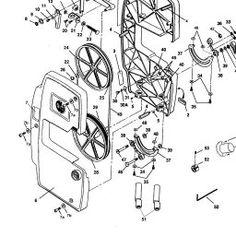 Shopsmith Mark V Headstock Saw Exploded Parts Diagram