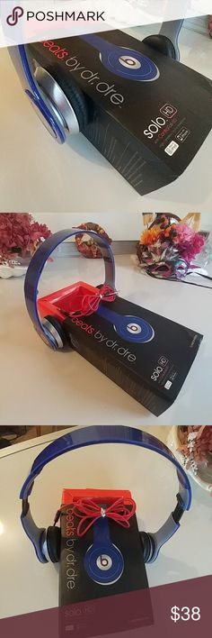 Beats by Dr. Dre solo HD with Control Talk. Wired. Blue Beats by Dr. Dre solo HD with Control Talk. Wired. No longer have iphone so no need for them.  Gently used.  Work great. Beats by Dr. Dre Accessories