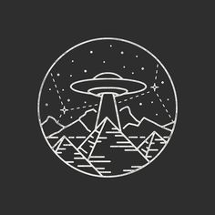 The Pyramids of Giza aligning with Orion's Belt... totally aliens!  Lots of ufo's for clients recently, keep 'em coming! #graphicdesign #design #illustration #art #artwork #handdrawn #ufo #alien #pyramid #space #xfiles #explore