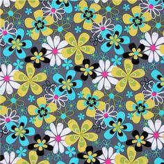 Michael Miller Far Out Floral Pattern
