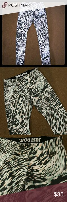 Nike Pro Leg a See yoga leggings gym pants Nike Gym Pants  Normal signs of wash and wear Great condition no rips, holes or stains   Black, white with pastel  Please ask any questions item sold as is Nike Pants Leggings