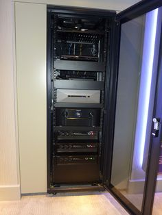 Home Cinema equipment rack for client installation