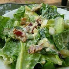 """Wilted lettuce salad. Some folks call it """"scalded"""" or """"killed"""" lettuce.  Use young or spring onions and their tops."""