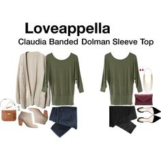 Claudia Banded Dolman Sleeve Top, created by katrinalake on Polyvore