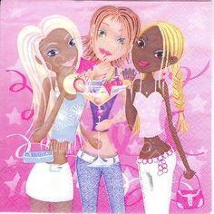 6 Servietten Napkins Candy Club - Girls - Comic - Mädchen - Kinder - co071