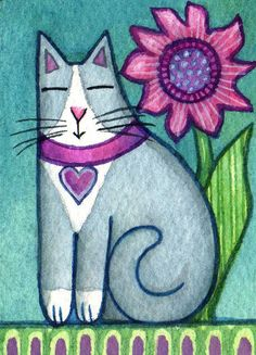Original ACEO watercolor painting... Gray by SusanFayePetProjects, $20.00
