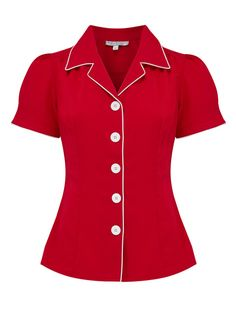 Rock n Romance supply a wide range of 1940s and 1950s vintage shirts and blouses. #vintagestyle