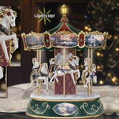 Thomas Kinkade Victorian Christmas Carousel,