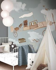 Plane themed bedroom | Discover more plane themed bedroom design for kids' rooms with Circu Magic Furniture. Go to: CIRCU.NET #SaloneDelMobile #SaloneDelMobile2019 #MilanDesignWeek #iSaloni #MilanoDesignWeek