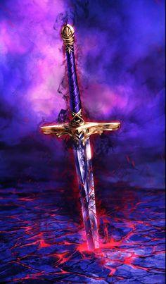 Abstract and Inanimate - Fantasy Art Dark Fantasy Art, Fantasy Artwork, Fantasy Sword, Fantasy Weapons, Fantasy Rpg, Espada Anime, Armas Ninja, Cool Swords, Sword Design