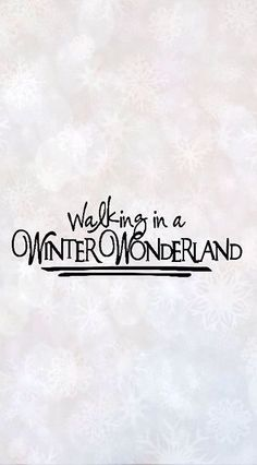 The colder weather is getting is very excited for Christmas! Walking in a Winter Wonderland...