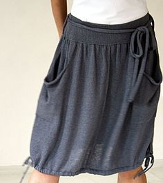 Grey linen knit skirt by Tricomania on Etsy - StyleSays