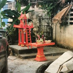 A Roadside shrine - there are a great many in Phuket