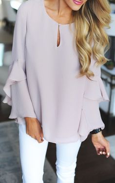 #summer #outfits / light pink