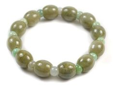 Elegant Women Jade Bracelet Bracelet, Jade Beads 12x12 and 6x6mm, Bracelet Length 7,5 inches - Feng Shui Fortune Jewelry by Feng Shui & Fortune Jewelry, http://www.amazon.co.uk/dp/B00ENIQ0JK/ref=cm_sw_r_pi_dp_6SOesb1FXS8NT