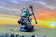 Tzeentch Sorcerer in Terminator Armour  http://www.tinyarmies.org/wp-content/uploads/2015/07/tzee_lord41.jpg