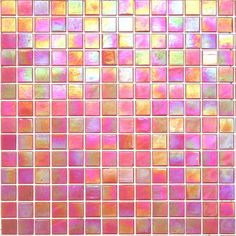 Kaleidoscope ColorGlitz Iridescent Glass Mosaic Tile, sold by the 1.15 s.f. sheet - Opening Night Orange
