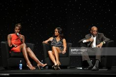 (L-R) WNBA All-Star Lisa Leslie, actress Laila Ali and writer William C. Rhoden speak at the BET Revealed Seminars during the 2013 BET Experience at JW Marriott Los Angeles at L.A. LIVE on June 29, 2013 in Los Angeles, California.  (Photo by Chelsea Lauren/Getty Images for BET)