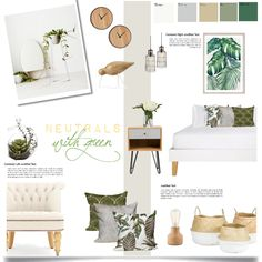 neutrals and green