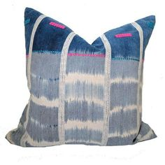 Vintage African Baule Ikat Mudcloth Pillow on Chairish.com