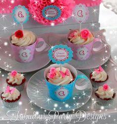 Oulike cupcake tee koppie