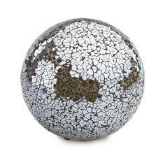 Grey Mosaic Decorative Ball #glass #design #contemporary