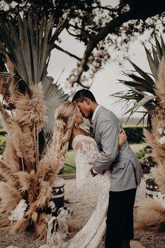 lace wedding dress for a gorgeous island outdoor wedding Cheap Wedding Flowers, Tree Wedding, Wedding Bells, Boho Wedding, Wedding Ceremony, Wedding Dress, Church Wedding, Wedding Photography Inspiration, Wedding Inspiration