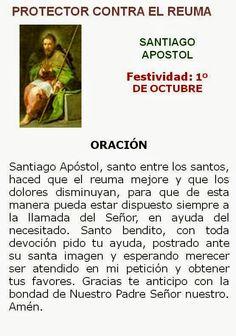 Santiago Apóstol, oración contra el reuma.