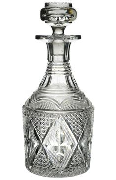 Victorian Glass Whiskey Decanter