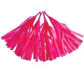 fuchsia pink tassel paper tassle garlands