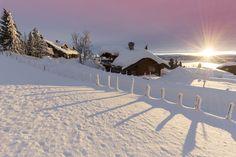 ***Snowbound log cabins (Lake Sjujsoen near Lillehammer, Norway) by Rob Kints