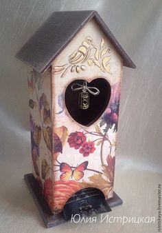 Купить Чайный домик Чудный сад - чайный домик декупаж, чайный домик, птички, клетка