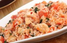 This easy risotto style recipe will please even fussy toddlers, just add whatever vegetables they like best. Tomato Risotto, Chicken Risotto, Tomato Rice, Toddler Dinner Recipes, Toddler Meals, Kids Meals, Baby Meals, Baby Foods, Toddler Food