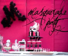 masquerade party - Kara's Party Ideas - 50th birthday party ideas