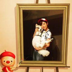 タイトル「シモンとその飼い主の肖像画」 A title Portrait of Simon and the owner.  #lovemydog #愛犬 #rescuedog #kisyudog #犬 #紀州犬 #instapets #instadog #doglove #doglife #doglover #dogstagram #dogs_of_instagram #doggy #雑種犬#dogsofinstagram #ペット #pets_of_instagram #petgram #petlove #petstagram #petsofinstagram #dog #dogslife #dogsofinstaworld #那須トリックアートミュージアム