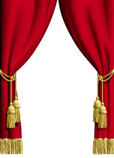 Red Curtain Transparent Frame