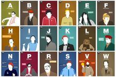 Wes Anderson Alphabet.