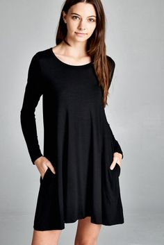 The Kyle Tunic dress transitions right into the cooler weather. The perfect piece for any occasion, dress up or down and is super comfy. It features a loose fit, long sleeves, round neck dress. Has po