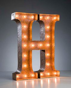 Vintage Marquee Lights Letter H by VintageMarqueeLights on Etsy
