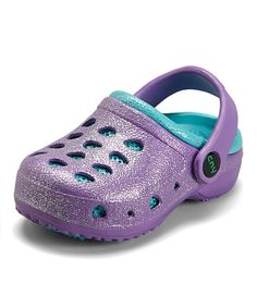 Loving this Capelli New York Purple & Teal Glitter Combo Clog on #zulily! #zulilyfinds