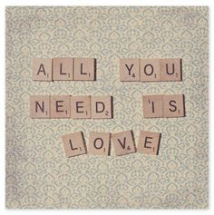 All You Need Is Love Scrabble Wall Art