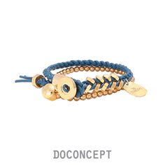 ALL FIT LEATHER BRACELET_BLUE    www.doconcept.co.kr