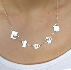 Image of Meet Your Coffee Maker - Handmade Silver Necklace