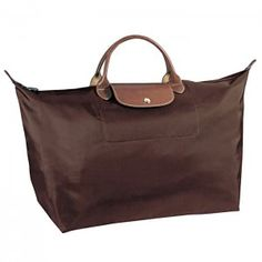 Longchamp Large Tote Short Handled Bag Brown